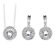 Exclusive Pendant Necklace and Earring Set, Perfect if You Love Fashionable Jewellery, For All Occasions, Perfect Gift - With. Element Crystal