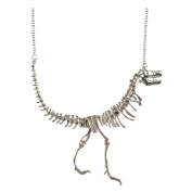 Vintage Style Dinosaur Skeleton Pendant Necklace