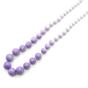 1 Necklace Winding Chain Beads Pearls Pastel Colours Lavender White Woman Fashion Acrylic .