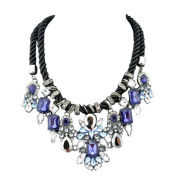 Sapphire Blue & Crystal Statement Necklace