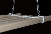 The Cottage Maid Traditional 5 Lath Pot Rack 0.8m with Oak laths and cream iron work
