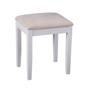 ASPECT Dressing Table Stool With Padded Seat, Wood, Beige