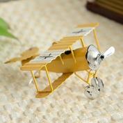 MyLifeUNIT Vintage Retro Model Biplane