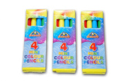 The Little Party Shop 15 x Mini Colour Pencils- 4 in a Pack - Childrens Party Bag Filler Toy