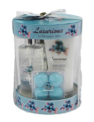 Floral Luxury Bath Spa Gift Set - Shower Gel, Body Lotion, Bath Fizzer, Bath Salt