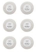 Salvatore Ferragamo Tuscan Soul Bianco Di Carrara Pleated Soaps - Set of 6, 50 gm soaps