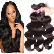 KLAIYI Hair Brazilian Cheap Body Wave Hair 3 Bundles Good Quality Grade 7A Raw Virgin Hair Weave Human Hair Extensions Natural Hair Colour 95-100g/pc