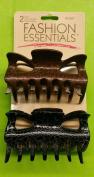 Fashion Essentials Clips All Hair, Brown & Black 2 psc