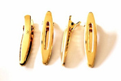 Lot of 4 Gold Colour Mini Hair Clip / Hair Clip
