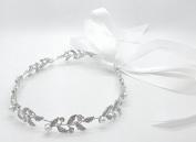 Bridal Ancent Crystal & Pearl Headband Hairpin