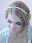 USABride Fresh Water Pearl Bridal Headband Elegant Jewelled Wedding Headpiece Rhinestones TI-3256
