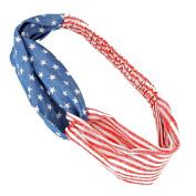 Twisted American Flag Stretch Headband