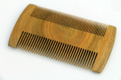 Moustache & Beard Comb - Natural Green Sandalwood For Hair - No Static Handmade Comb