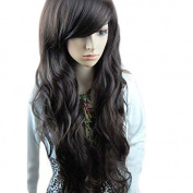 Fashion . Long Full Curly Wavy Party Lady Girl Natural Black Hair Wig