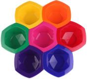 Perfehair Colourful Hair Dye Bowl Set, Rainbow Hair Colouring Tint Bowl Set-7 Colour