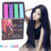 Akak Store 4 Colours/Set Non-Toxic Hair Chalks Dye Soft Pastels Salon Kit Fast Temporary