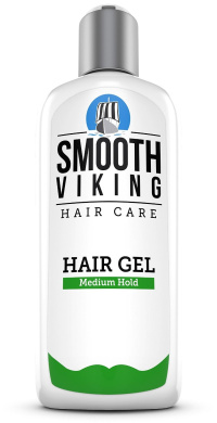 Medium Hold Hair Gel for Men - Best Styling Gel for Short, Long, Thin and Curly Hair - Great for Modern, Messy, Wet and Dapper Styles - With Natural and Organic Ingredients - 240ml - Smooth Viking