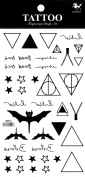 Grashine long last temporary tattoos Different and unique designs and totems look like real temporary tattoo stickers including stars,triangles,bats,etc.