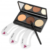 Eshion 3 Colours Cosmetics Eyebrow Brow Makeup Kit Set With 3Pcs Stencils