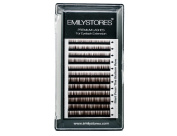 EMILYSTORES Lash Eyebrow Extensions Colour Brown Thickness 0.10 mm Length 5/6/7/8MM Mixed Sizes One Tray