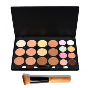OULII 20 Colours Cosmetic Cream Contour Makeup Concealer Palette with One Makeup Brush