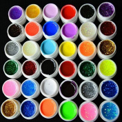 Warm Girl 36 Colour Mixed UV Pure Hexagon Glitter Gel Nail Art Kits