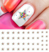 Colourful Stars Water Slide Nail Art Decals - Salon Quality!