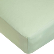 TL Care 100% Cotton Percale Fitted Crib Sheet, Celery, 70cm x 130cm