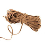 Ecloud Shop® Brown Faux Suede Leather Beading Thread Lace Cord 18m Long