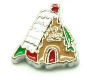 Cherityne Christmas Cottage House Floating Charm for Locket Pendants