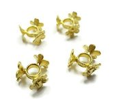 Foxy Findings 2 Pieces 24K Gold Plated Flower Bead Divider, Strand Spacer, GoldPlated Supplies - SFG037