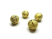 Foxy Findings Bead Spacers, 14mm Sand Dollar Bead 24K Gold Plated 3 Pieces Spacers - SFG027