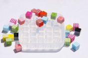 Sale!! Clear-silicone beads Moulds,25- pc.Good for pendants,earrings, bracelet, art,craft. 8mm.