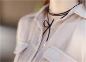 Akak Store 1Pcs Simple Lovely Tie Me Black Velvet Chain Stretch Choker Suede Wrap Necklaces for Women Girls