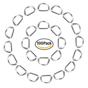 eBoot 100 Pack Metal D Ring, 1/ 5.1cm