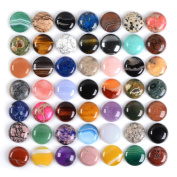 Wholesale Lot 24pcs Multi-colour 25mm Gemstone Round Cab Cabochon For Jewellery Making