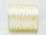 CHAMPAGNE YELLOW 1mm Bugtail Satin Cord Shamballa Macrame Beading Nylon Kumihimo String