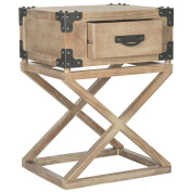 Safavieh American Homes Collection Dunstan Washed Natural Pine Accent Table