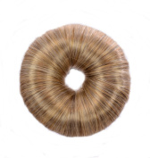 Sandy Blonde Hair DoNut | Up Do Soft Flexi Hair Ring | Multi Use Hairstyler | Bun creator