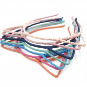 Angelakerry 10pcs 7 Colours Women Girls Kid Wave Point Cat Ear Hairband Metal Fabric Dress Party