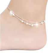 Tonsee 5 Bells Women Chain Ankle Bracelet Barefoot Sandal Beach Foot Jewellery
