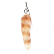 URSFUR 28cm Raccoon Tail Fur Cosplay Toy Haning Ornaments Bag Key Chain