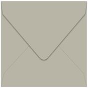 Euro Flap Envelope 6 1/2 Square - Colours Matt Stone, 25 pack