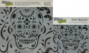 The Crafter's Workshop Set of 2 Stencils - Mexican Skull 30cm x 30cm Mini 15cm x 15cm - Includes 1 each TCW339 and TCW339s - Bundle 2 Items