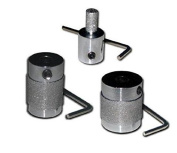 SET OF 3 STANDARD FINE DIAMOND GRINDER BITS, 2.5cm , 1.9cm & 0.6cm