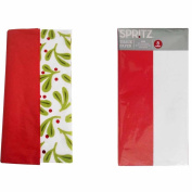 Spritz Tissue Paper Holly Red 10 Sheets & Spritz Tissue Paper Red & White 8 Sheets