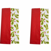(2) Packages Spritz Tissue Paper Holly Red, 10 Sheets