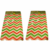 (2) Packages Spritz Red & Green Chevron Pegged Tissue Paper, 8 Sheets
