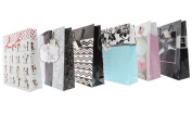 Wedding Gift Bags Party Classy Celebration Vibrant Jumbo Mr and Mrs Greetings Bag - 6 Assorted Styles