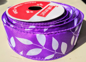 Purple Ivy Pattern Craftsmart 3.8cm . X 2.7m 100% Polyester Ribbon - Great for Any Occasion!